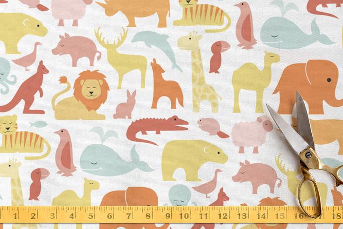 Animal of the World fabric