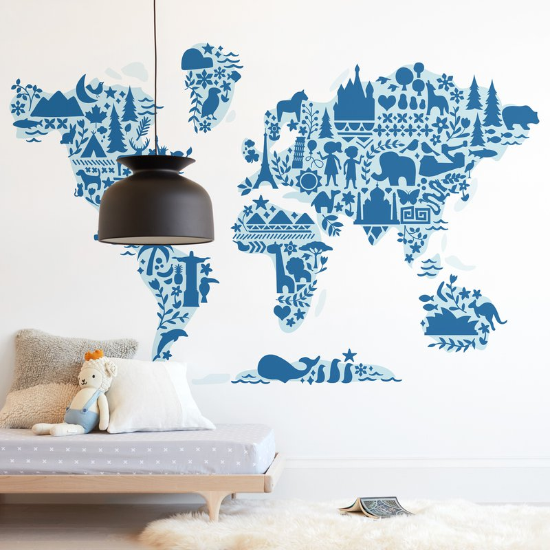 Little Big World removable wall mural