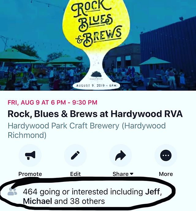 🤭 @hardywood this Friday.  6-9 (nice) pm. New beer release. Free music.  S'go.  #richmondva #thingstodoinrva #nice #livemusicrva #rvamusic #hardywood