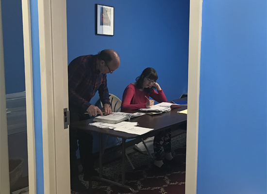 one-on-one tutoring taking place at Boston Tutoring Center in West Roxbury, MA