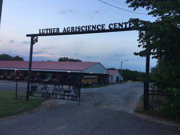 The Luther Agriscience Center is across SH66 from Rock N Vapes.