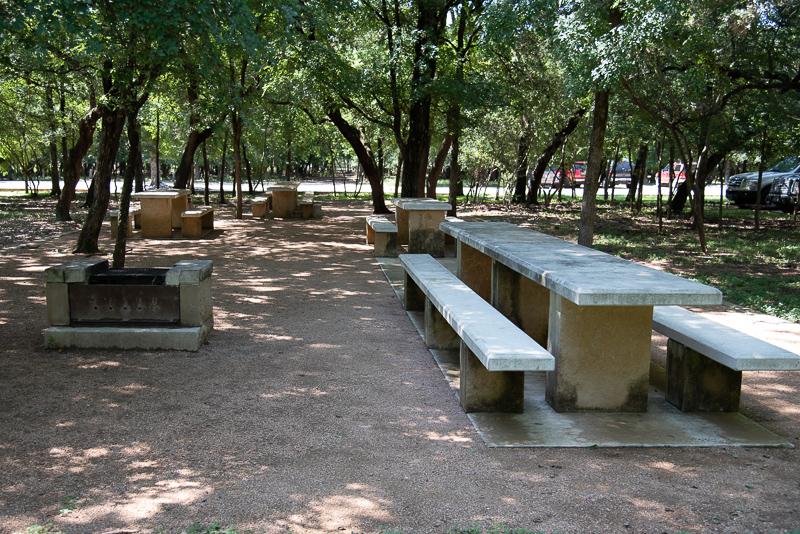 Picnic Areas - Picnic tables with BBQ Pits are located throughout the park. Personal BBQ pits are not allowed.