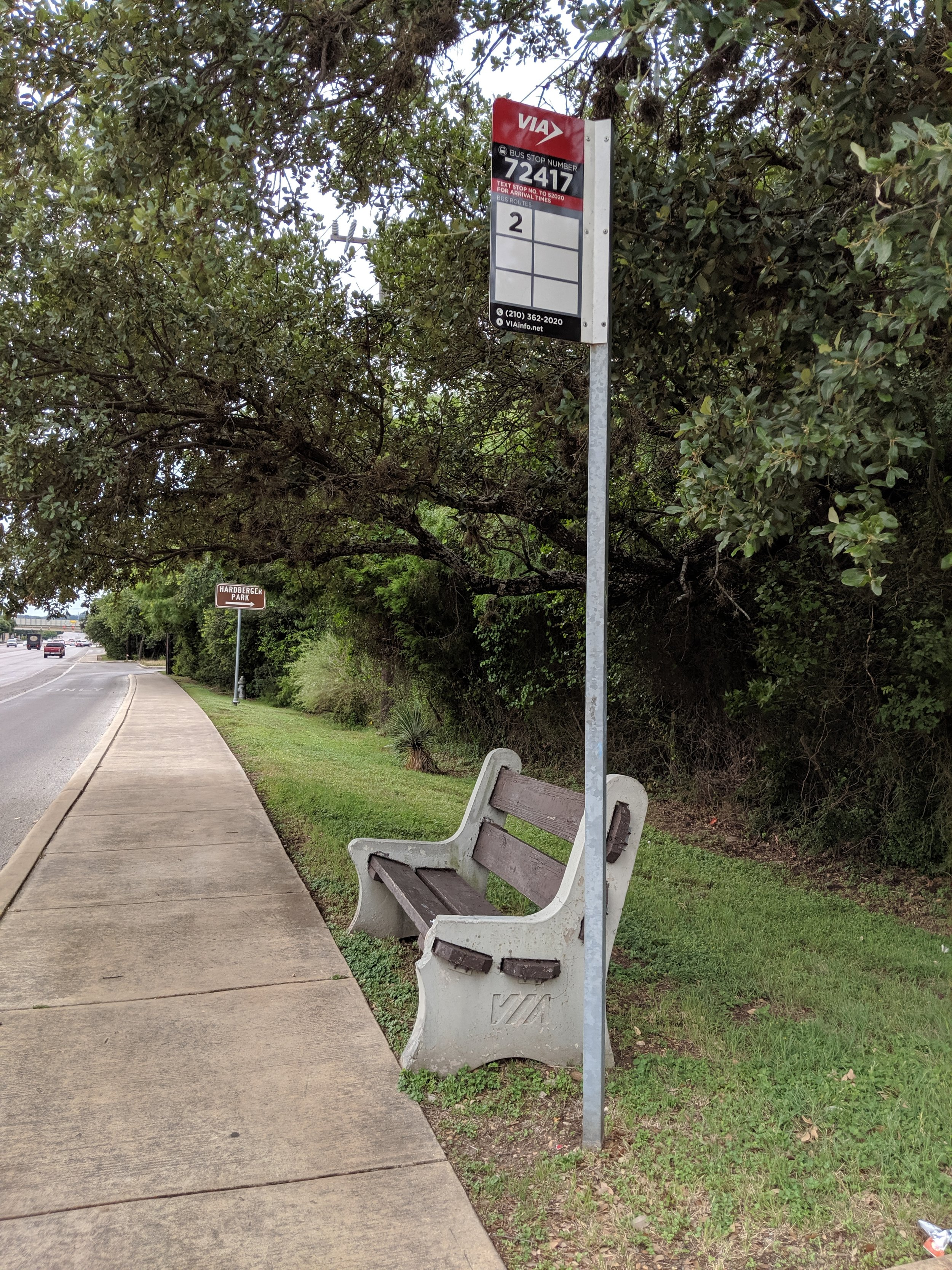 Public Transit - Via has bus stops on the Blanco Road and NW Military Hwy sides.Blanco Road stopsBus #2 72417 & 72857NW Military Hwy StopBus #97 97096