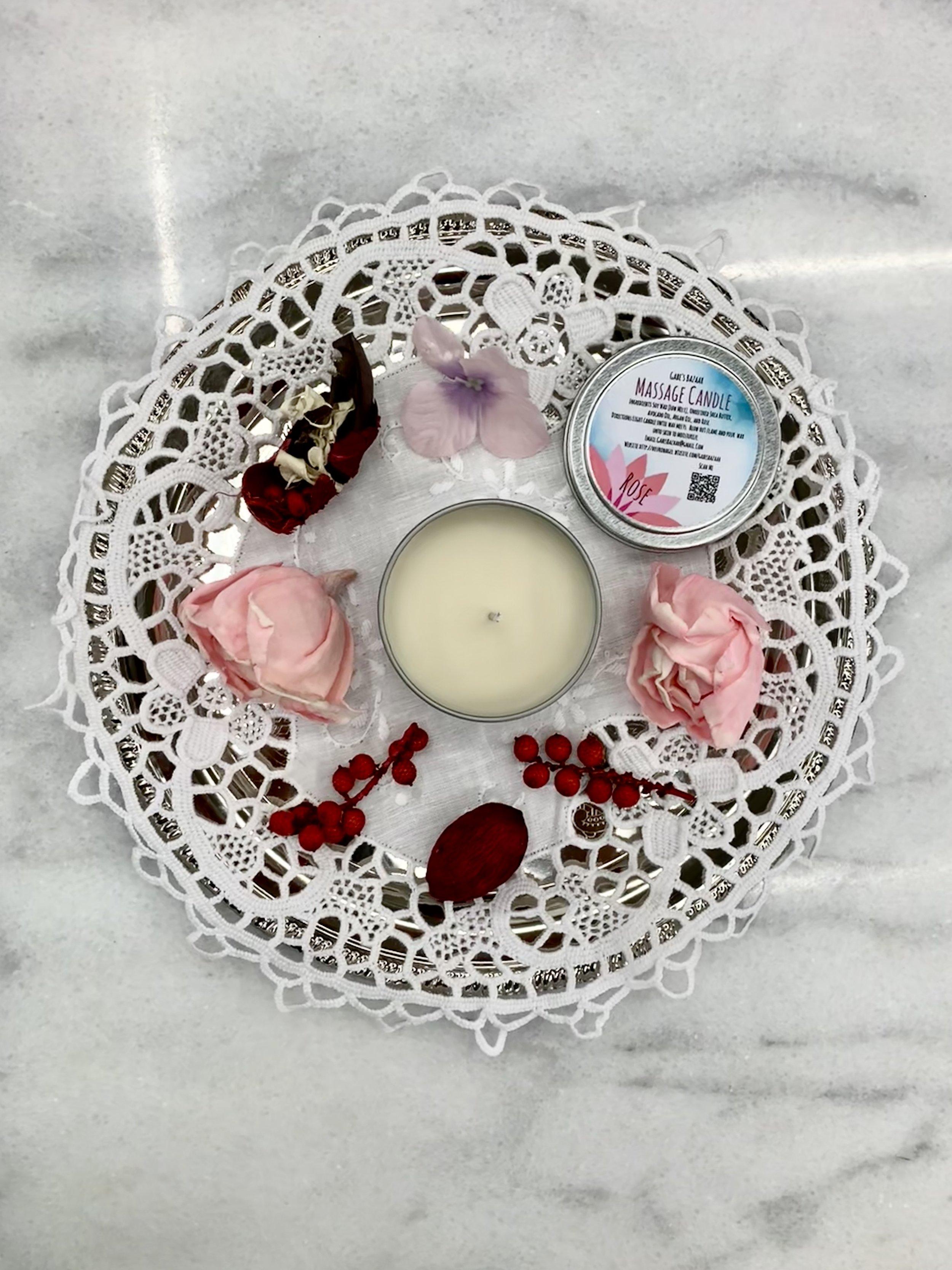 Rose Moisturizing Massage Candle