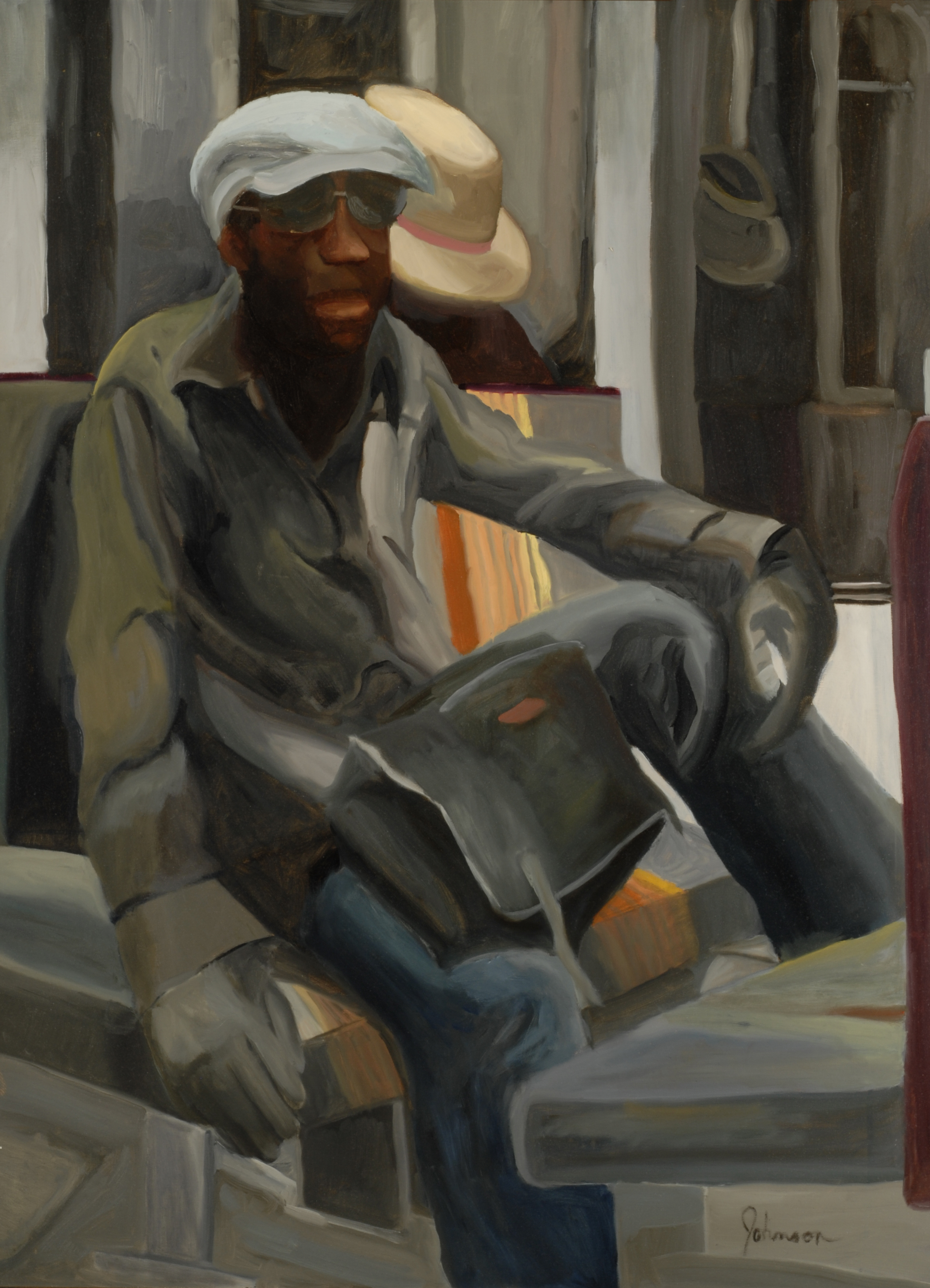 Johnson_Rochelle_'D' Train_2009_oil_40x30.JPG