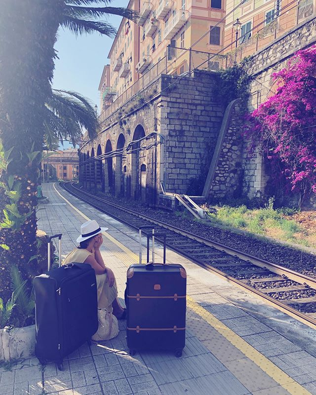 Wouldn't mind if the train never arrived🌸