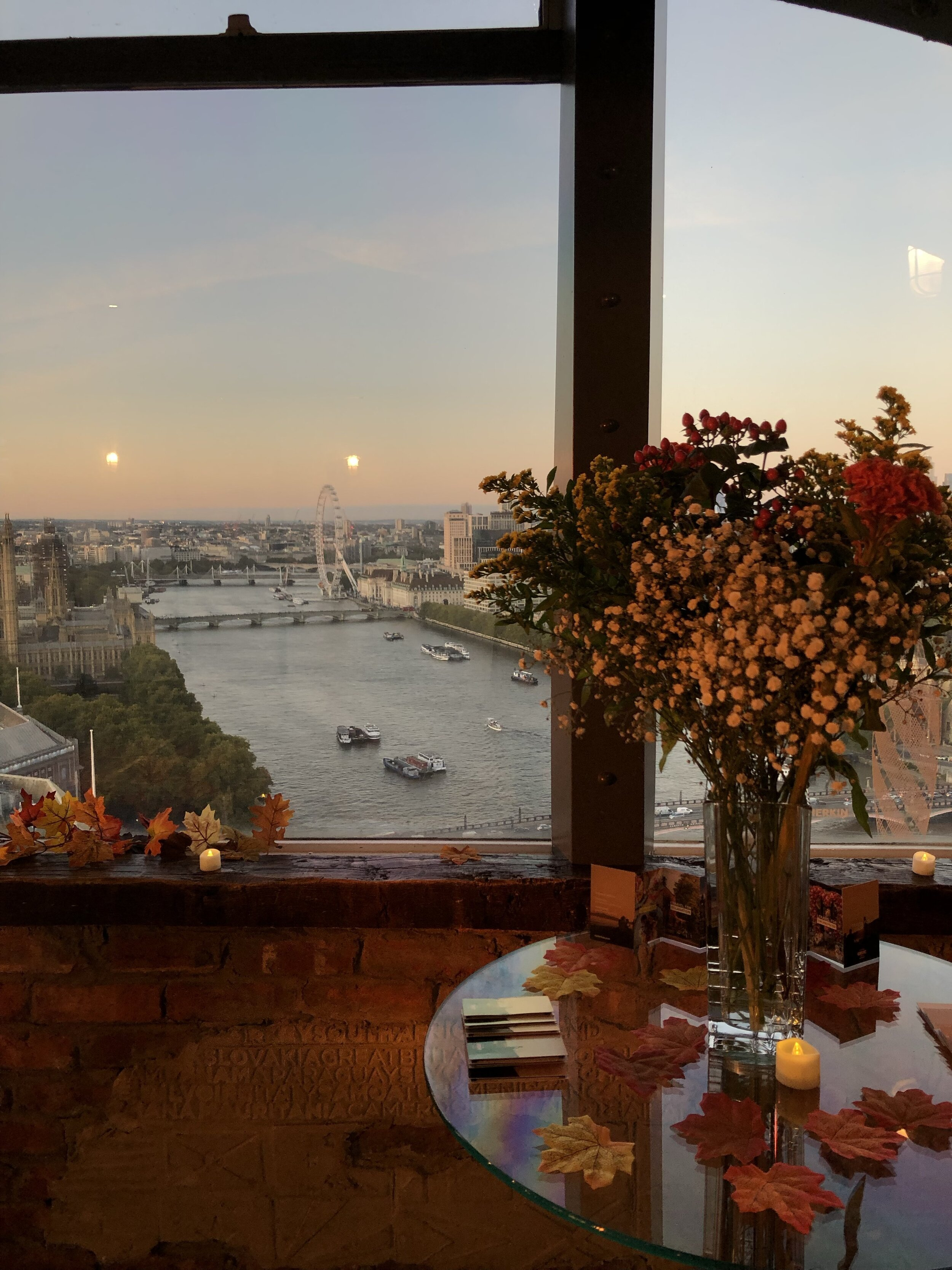 The beautiful view from Millbank Tower, our venue for the day