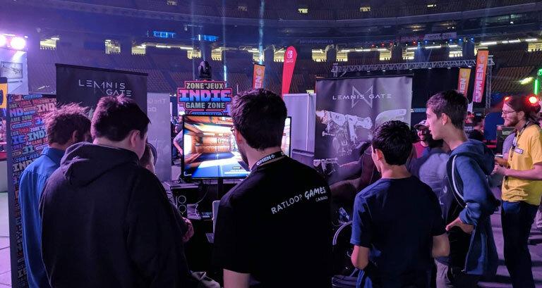 Fans Play Turn Based FPS Lemnis Gate at DreamHack 2019.