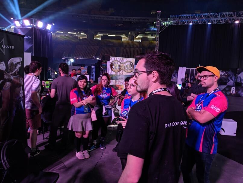 Pro Players try Turn Based FPS Lemnis Gate at DreamHack 2019.