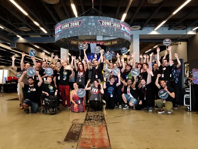 Indie developers celebrate a successful Montreal Comic Con.