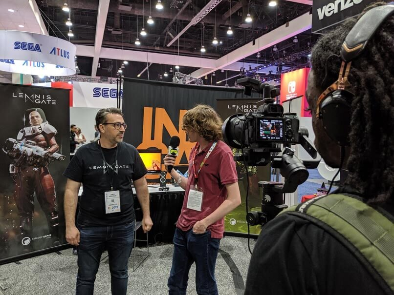 Lemnis Gate Game director, James Anderson interviewed but gaming journalist.