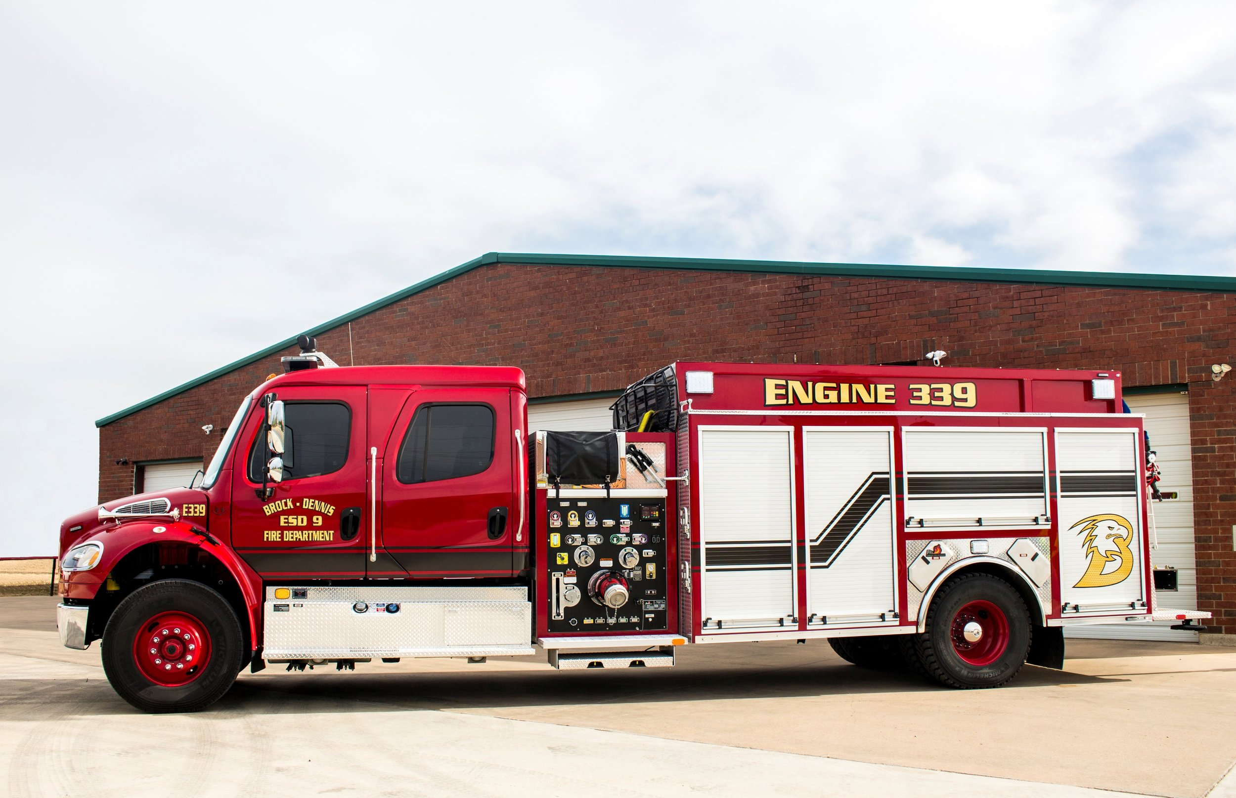 E339 - This 2017 Freightliner built by Ferrara Fire apparatus carries up to 1800 gallons of water partnered with a 2000 GPM pump. This loaded out engine served its first couple of years as the departments first out truck taking some of the load off of E239 while carrying up to 5 firemen.