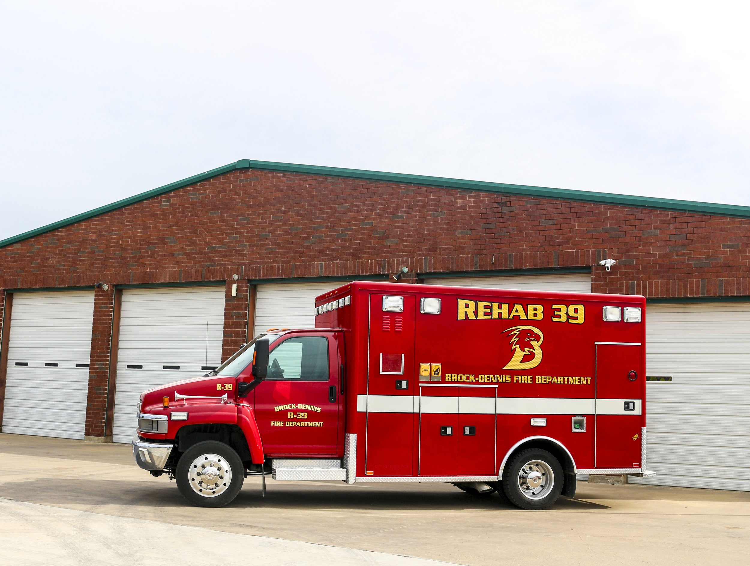 Rehab 39 - This 2008 AEV ambulance is located at Station 2 and was purchased 2 years ago. It's used as a rehab unit on large fire scenes to help our firefighters recover and provide assistance. It is responded by our auxiliary staff.