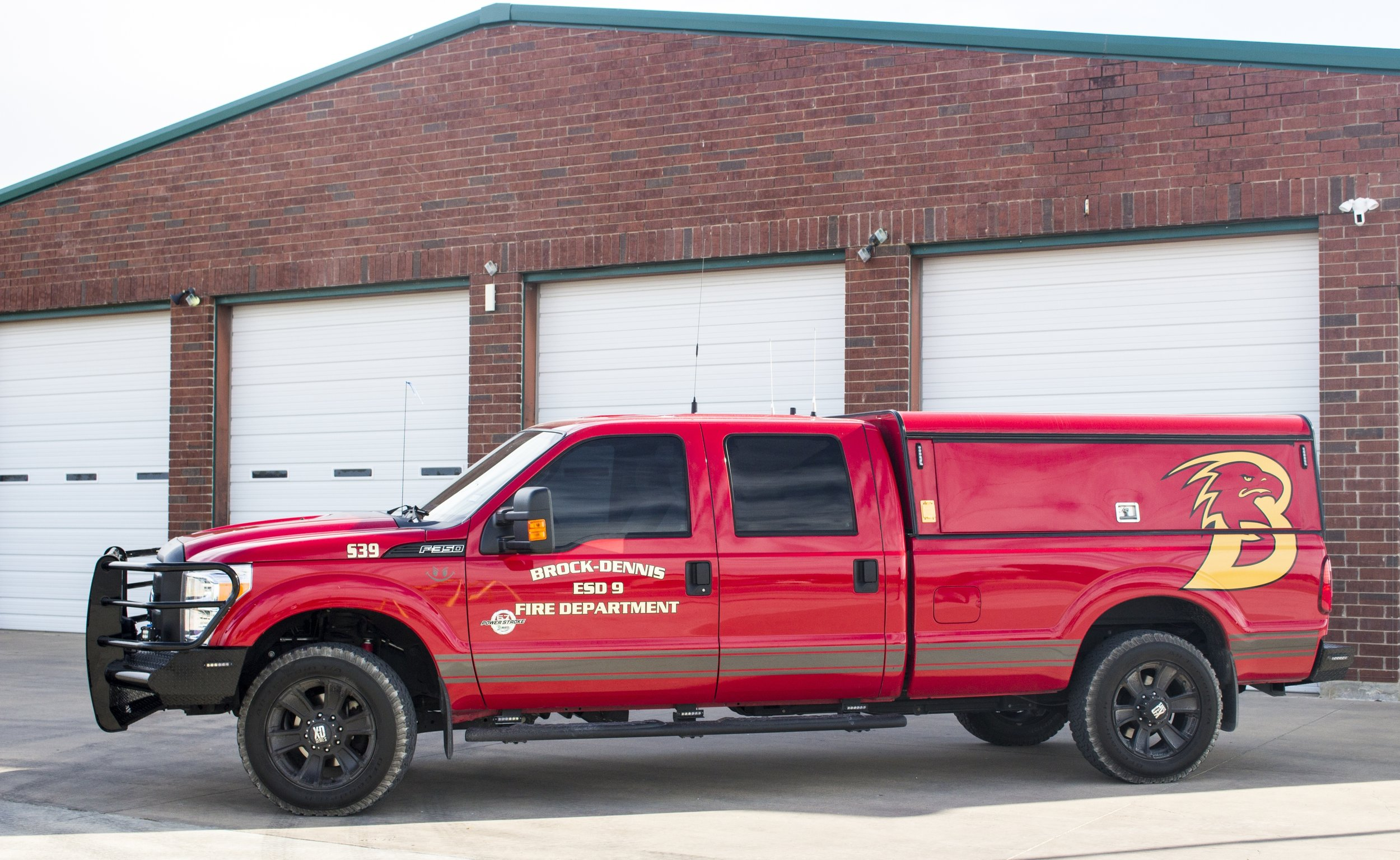 Squad 39 - A 2015 f350 housed at Station 1, this truck is used for Command and Primary EMS response. It has a full bed-length slide out in the back to hold Radio, EMS, and Rope Rescue equipment. This is also the Chief vehicle.