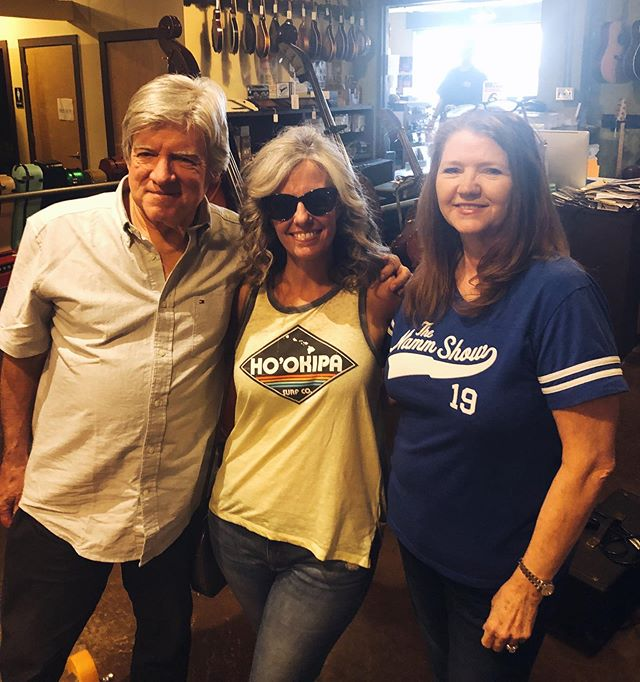 Hanging with Christie and Walter Carter of Carter Vintage Guitars. 🎸 #nashville