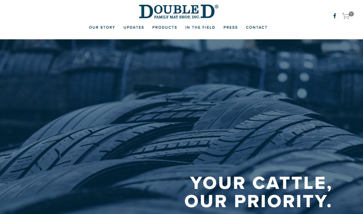 Screenshot of updated Double D Family Mat hop website designed by Custer Creative.