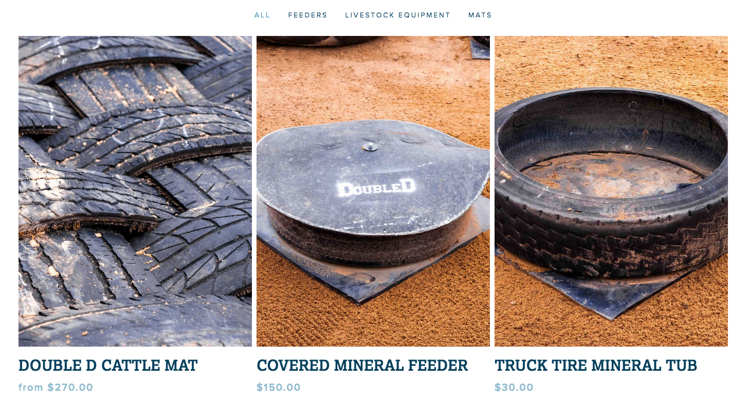 Image of Double D Mats Online Store with 3 products