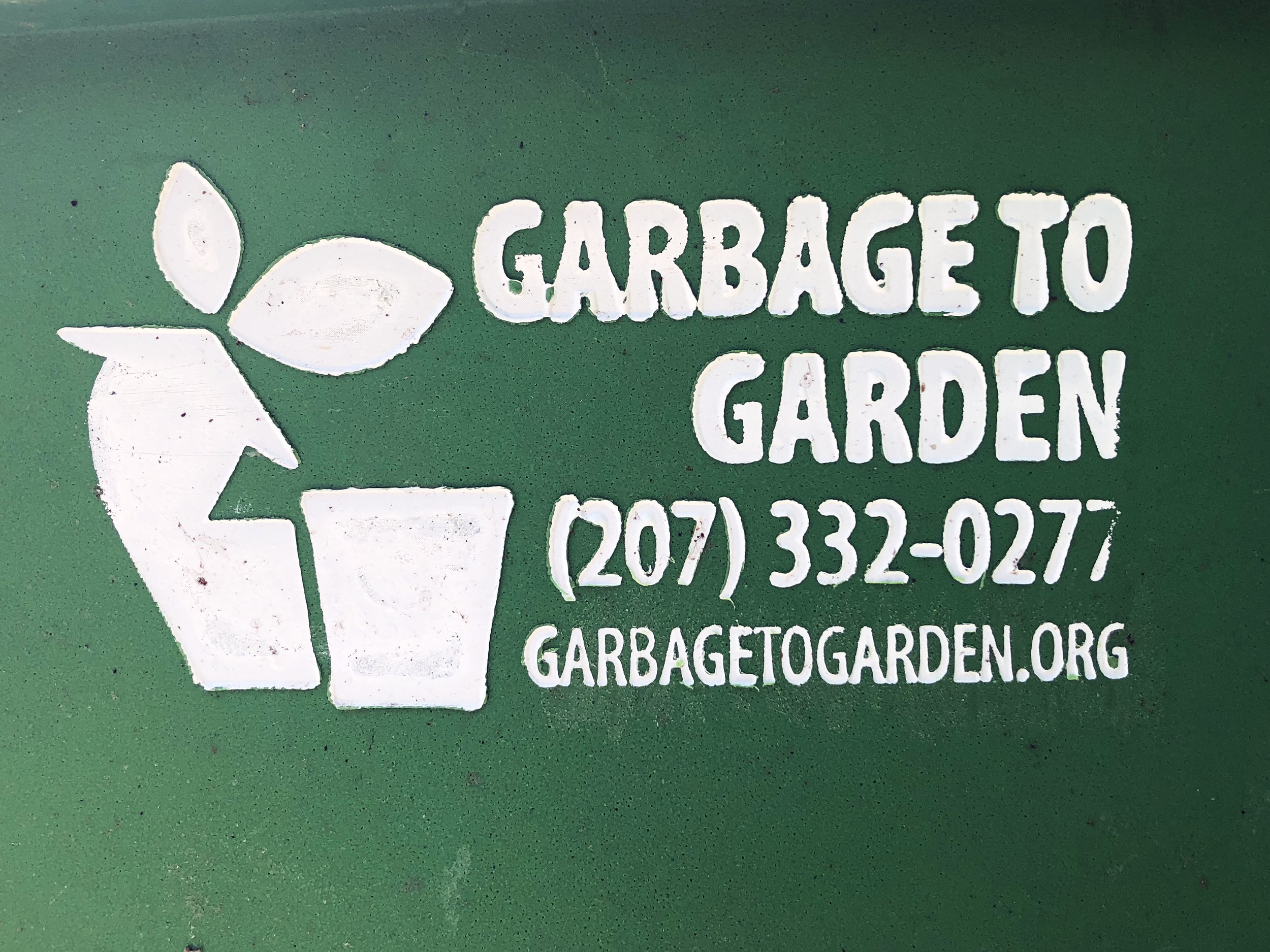 garbage to garden - We compost our natural waste from the brewing process as well as biodegradable paper products and other natural materials. Local company, Garbage to Garden comes by and picks up our bins for compost fertilizer use around the area.