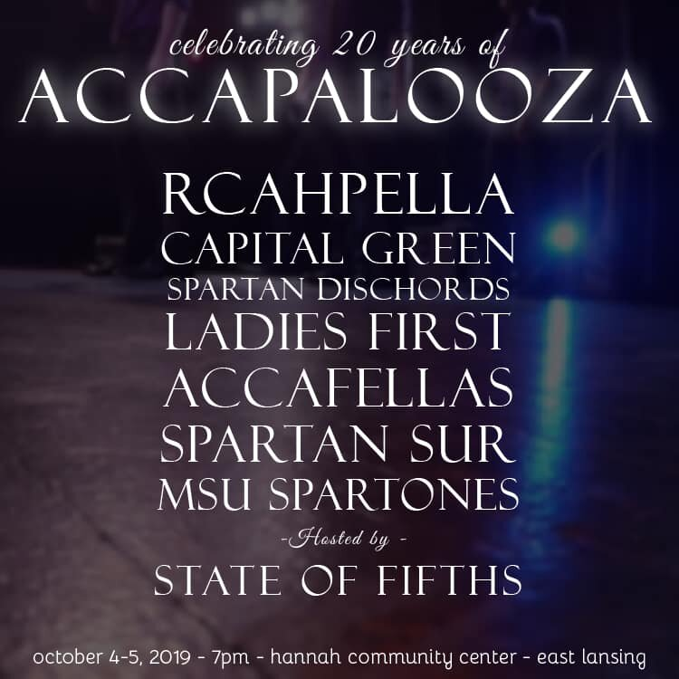 Accapalooza 2019 Poster