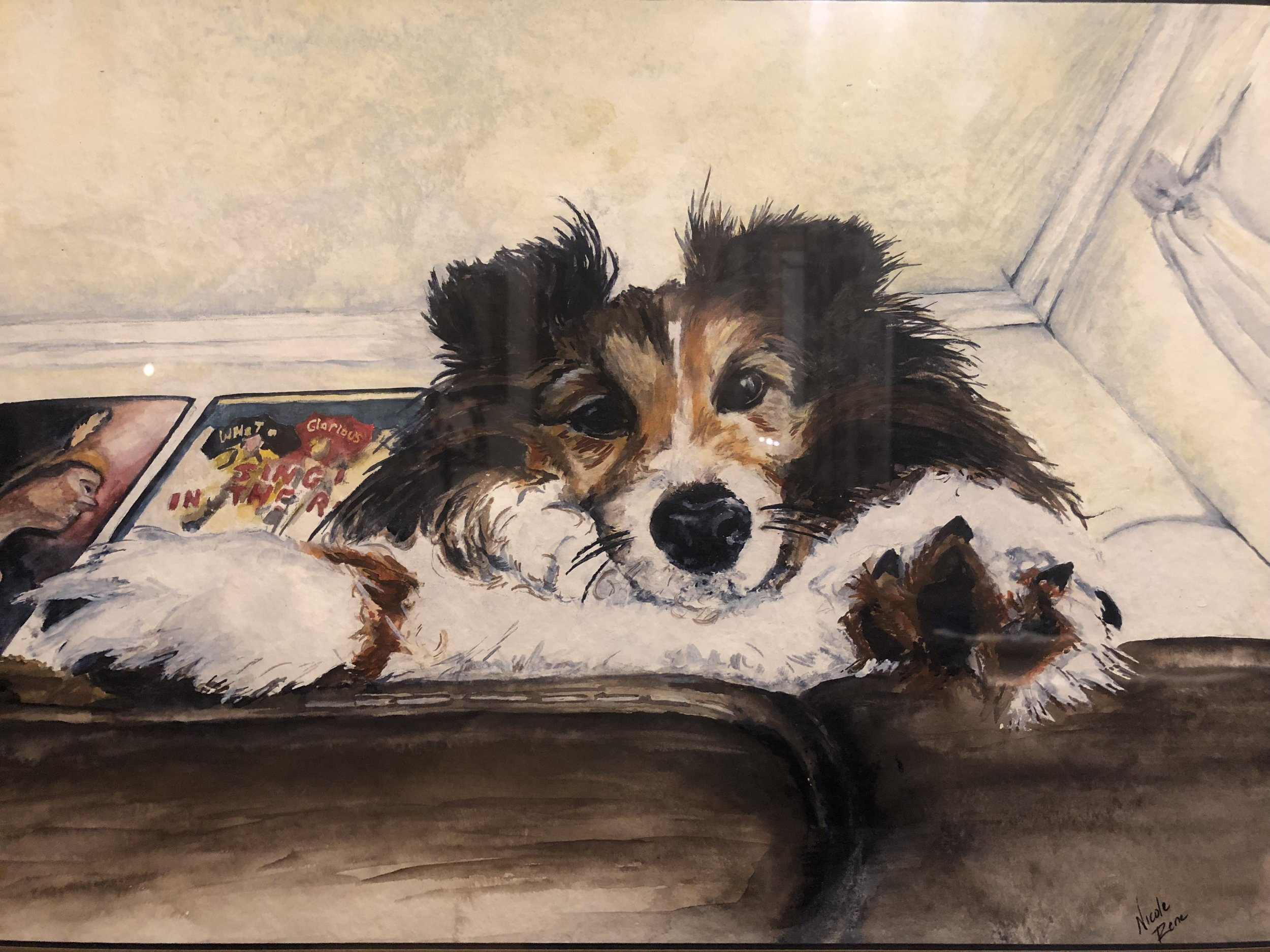 "Option 2: - 11"" x 15"" Painting of your pet: $145.00Add Mat and 16"" x 20"" Frame: $65.00Prices are for 1 subject. Additional subjects start at $50.00"