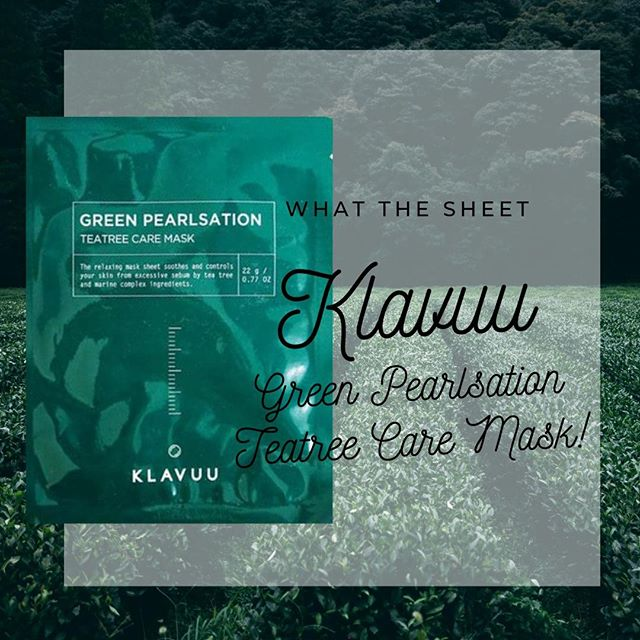 """Did you fall asleep in your make up again? Having breakouts but don't want to use anything harsh? You need something cool and claiming that packs big ass punch 👊⠀ 🌱 ⠀ Today we are reviewing  KLAVUU - Green Pearlsation Teatree Care Mask. Hailed as the mask to """"throw on this mask when your skin needs a tune up.""""⠀ 🌱⠀ This mask claims to target blemishes and oily areas, soothe skin that has been irritated by acne, brighten using the awesomeness using the pearl extracts, tighten and minimise the appearance of pores using seaweed extract.⠀ 🌱⠀ Why we love it - This beautiful luxurious cotton mask is drench in none sticky essence and really delivered. Although it's tough to say after one use (as with any product) We loved that it purged our beauty no nos by falling asleep in our makeup. The soothing components helped with our face hang over. ⠀ 🌱⠀ Skin Types: All - Concerns: Acne & Brightening - Lifestyle: Me Time - Time:  20 mins - Price: $$ -  Rating: 5 Stars. #whatthesheetapproved. Check out the link in our profile for the full review."""