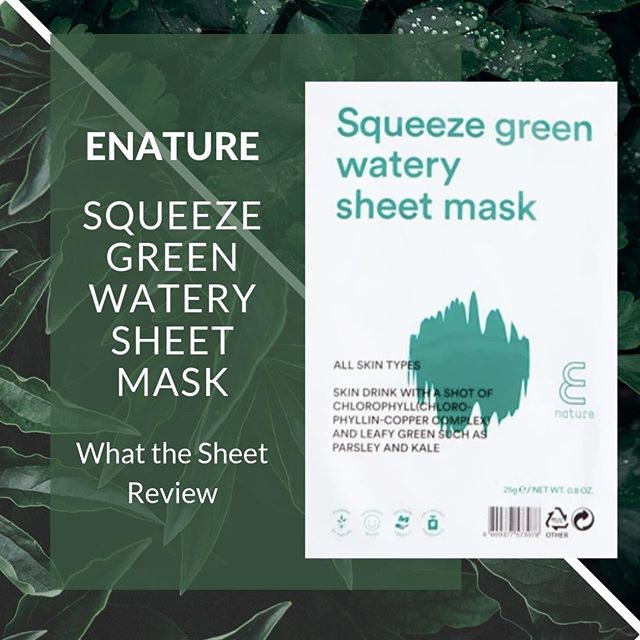 Does your skin need to have a can of spinach and Popeye the f-up? Image what  Popeye could do eating kale instead...and then apply that thought process to your face....confused... DW read on! #saladface⠀ 🥬⠀ Today we are reviewing ENATURE. Squeeze Green Watery Sheet Mask AKA Green juice for your face. YAY I can feel healthy by putting stuff on my face and eat a burger...wait no, don't think it works like that. ⠀ 🥬 ⠀ Why we love it - This Green juice salad for your face is packed with parsley extract, vitamins C & B, and KALE. We mentioned it had kale right? This beautiful juice concoction works on controlling sebum (that stuff in excess that creates acne) and targets strengthening skin. Think of a your skin as a boxer, who goes Popeye when eating spinach… but it kale because we are in the 2019 its a super food or something. Anyway….. this mask packs a punch with amazing non-sticky essence, my face felt hydrated and healthy. I keep this one in the fridge to invigorate my tried unhealthy skin, think die acne die, but via healthy methods! This one is added to my regular routine. ⠀ 🥬⠀ Lets Level:  This mask has LOTS of essence. So you can either apply the left over before you put the mask on, or use it as your serum/ essence the next day. Although to note, it didn't drip whilst wearing the mask. The cotton mask is great too⠀ 🥬⠀ Skin Types: All 🥬 Concerns: Detox & Acne 🥬 Lifestyle: Me time 🥬 Time: 20 mins 🥬 Price: $ 🥬 Rating: 5 Stars. 🥬 Scent - none 🥬 #whatthesheetapproved. Check out the link in our profile for the full review.