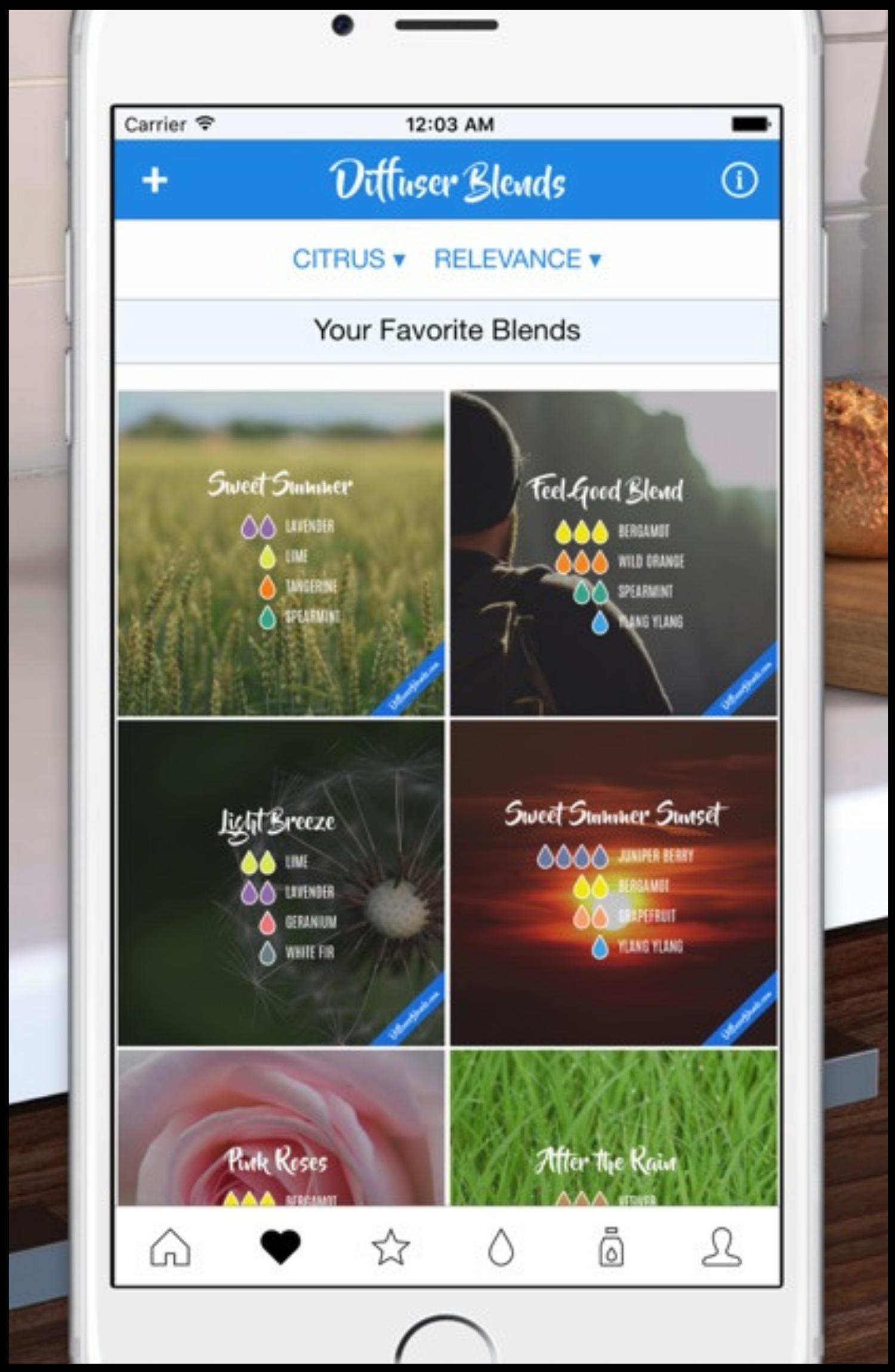 Diffuser Blends Website & App