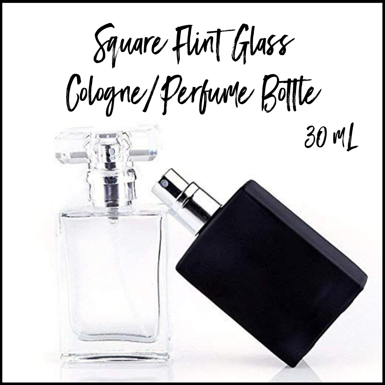 30mL Square Flint Glass Cologne Perfume Bottles