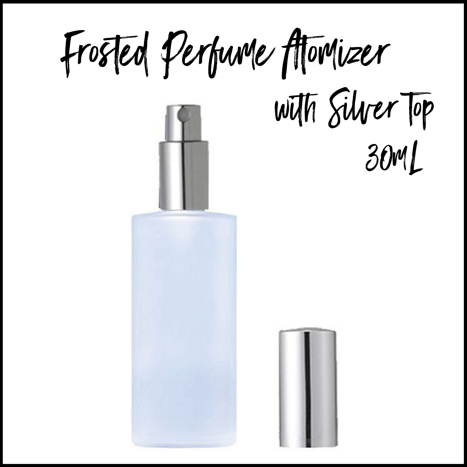 120mL Frosted Glass Perfume Bottle with Silver Sprayer