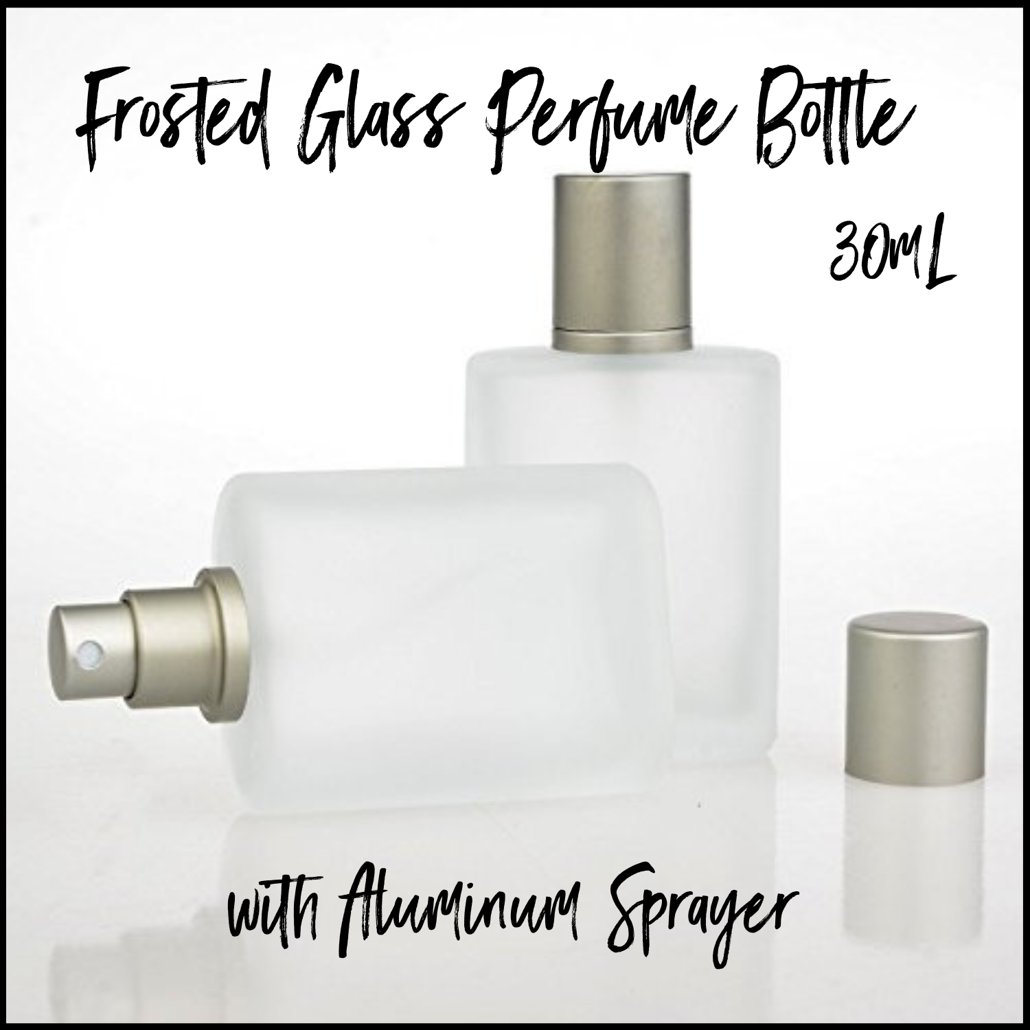 30mL Frosted Glass Perfume Bottle with Aluminum Sprayer