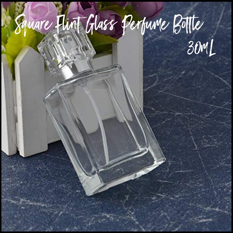 30mL Square Flint Perfume Bottle