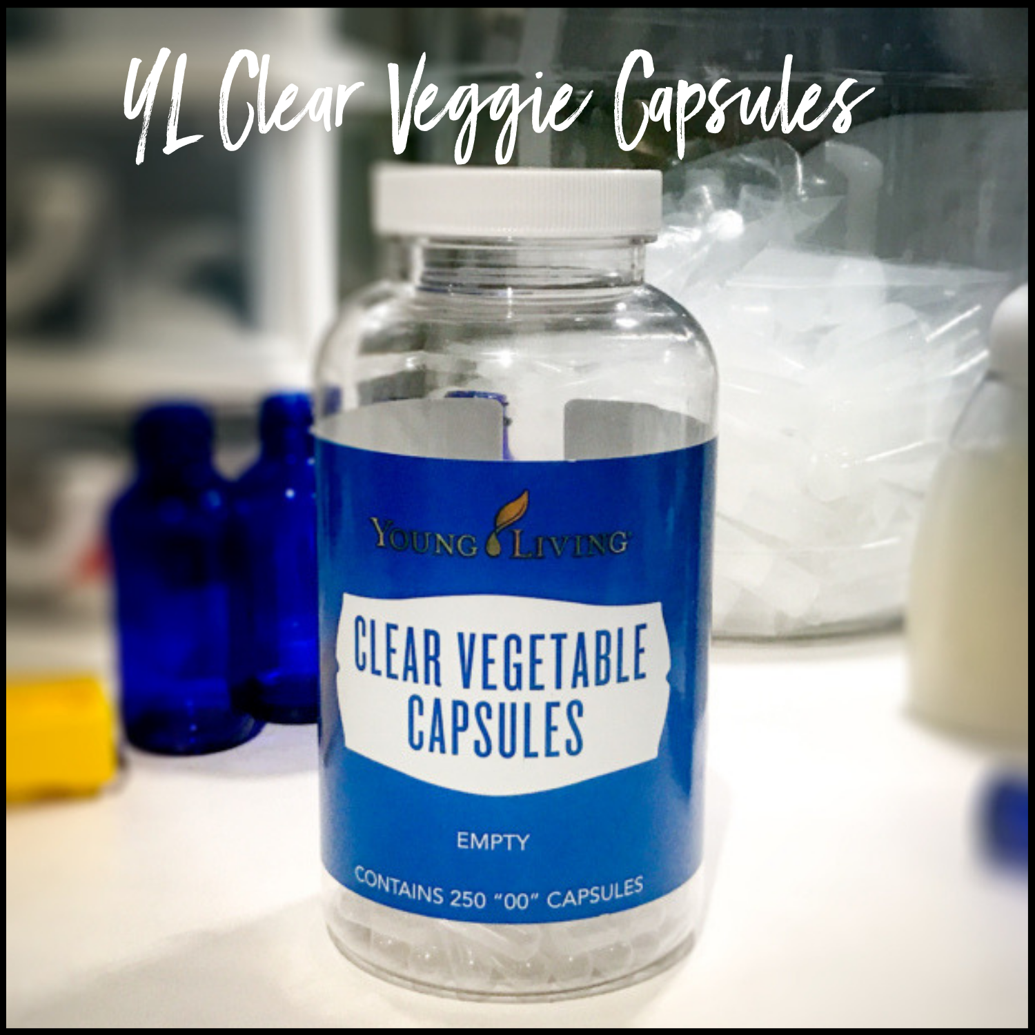 Young Living Clear Vegetable Capsules, Size 00