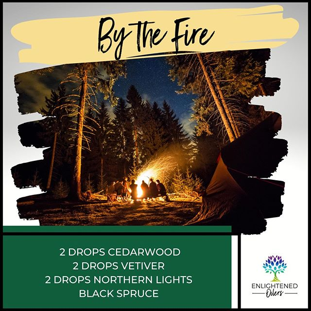 Chilly fall nights are perfect for gathering around a fire! What's your favorite way to enjoy fall evenings?  By the Fire 2💧Cedarwood  2💧Vetiver  2💧Northern Lights Black Spruce   * * * * #diffuserrecipes  #enlightenedoilers #essentialoils #youngliving #naturalliving #wellness #plantbased #essentialoilswork #essentialoilsrock #essentialoilsforlife #oilsforeverything  #yleo #younglivingessentialoils #younglivingeo #theresanoilforthat #nontoxic #holistichealth  #naturalsolutions #oilylife #oilymom #oilyfamily #bythefire #cedarwood #vetiver #northernlightsblackspruce #campfire #fallnights