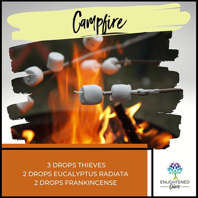 Gathering around the campfire roasting marshmallows is a favorite way to spend a fall evening  for our family. I love to eat my slightly charred marshmallow right off the stick.  Do you like to eat your roasted marshmallows right out of the fire or do you prefer to make s'mores with them?  Campfire 3💧Thieves  2💧Eucalyptus Radiata  2💧Frankincense   * * * * #diffuserrecipes  #enlightenedoilers #essentialoils #youngliving #naturalliving #wellness #plantbased #essentialoilswork #essentialoilsrock #essentialoilsforlife #oilsforeverything  #yleo #younglivingessentialoils #younglivingeo #theresanoilforthat #nontoxic #holistichealth  #naturalsolutions #oilylife #oilymom #oilyfamily #campfire #thieves #eucalyptus #frankincense #fallevening #familytime