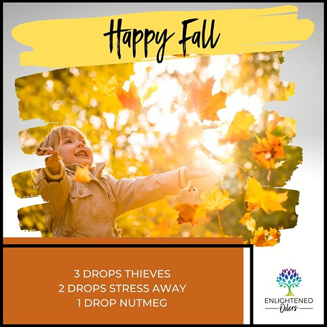 Sweet bliss!  It's nearly impossible to feel down among the beauty nature provides this time of year.  What about the fall season fills you with happiness?  Happy Fall  3💧Thieves  2💧Stress Away  1💧Nutmeg  * * * * #diffuserrecipes  #enlightenedoilers #essentialoils #youngliving #naturalliving #wellness #plantbased #essentialoilswork #essentialoilsrock #essentialoilsforlife #oilsforeverything  #yleo #younglivingessentialoils #younglivingeo #theresanoilforthat #nontoxic #holistichealth  #naturalsolutions #oilylife #oilymom #oilyfamily #happyfall #thieves #stressaway #nutmeg #blissful #changingseasons #fallcolors #changingleaves