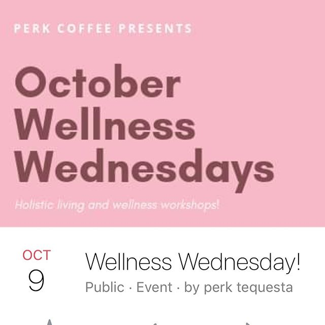 """October is all about breast cancer awareness and being healthy. Join us Wednesday night @7pm for the start of our Wellness Wednesday Series. Over the next several months at Perk Coffee House, join 15 year practicing Herbalist and Health Coach Erica Heuwetter as she shares a multitude of her favorite tools and trades for high vibration healthy living. 🔮She will be discussing topics like, """"Getting The Most From Your Gut"""". """"Brain Boosting Hacks"""". """"How to Build Immunity"""" and more. . . . Each 60 minute workshop will include a Handout of that weeks course topic, as well as a suggested or recommend list of herbs overviewed. $10 at the shop ⚡️"""