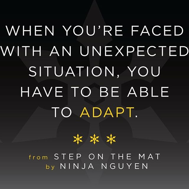 #mondaymotivation Life will not always throw a straight punch or front kick your way...watch for those hook kicks! Be willing to adapt. #steponthematbook #motivationmonday #medfordma #boston #amazonbestseller #steponthemat #martialarts #lifelessons #wayoftheninja #jabcrosshook #adapt