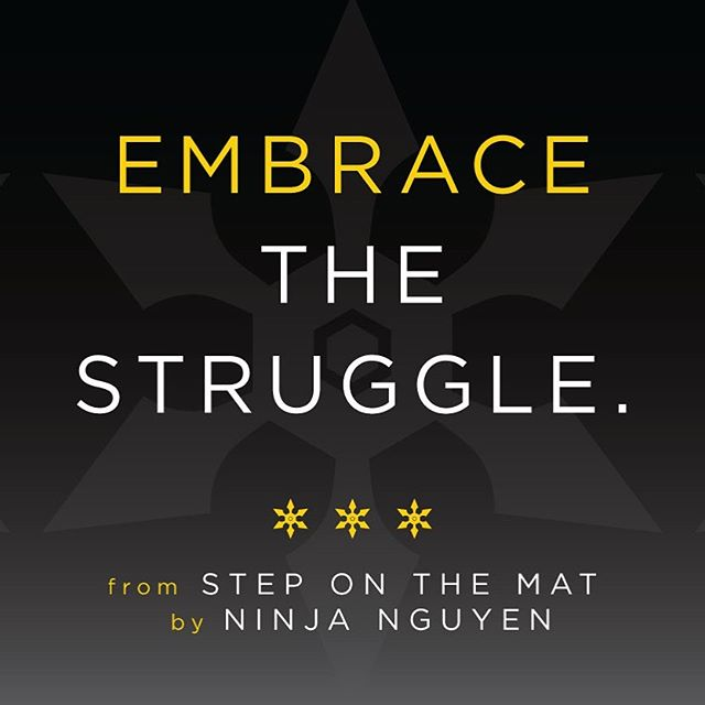 #motivationmonday Breaking through difficultly is less complicated when we surrender ourselves to the struggle. #steponthematbook #xtremeninja #mondaymotivation #medfordma #boston #amazonbestseller