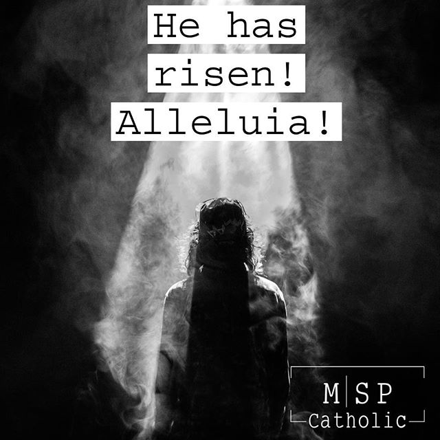Christ has risen! Praise be to God for His victory over death.  #happyeaster #christhasrisen #mspcatholic