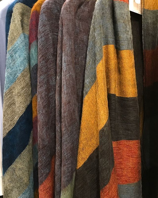 We have some beautiful Curious Yak scarves for fall.  Designed in London, hand crafted in Nepal. Loved by men & women- a perfect gift!  Machine washable on delicate, allergy free and color safe.