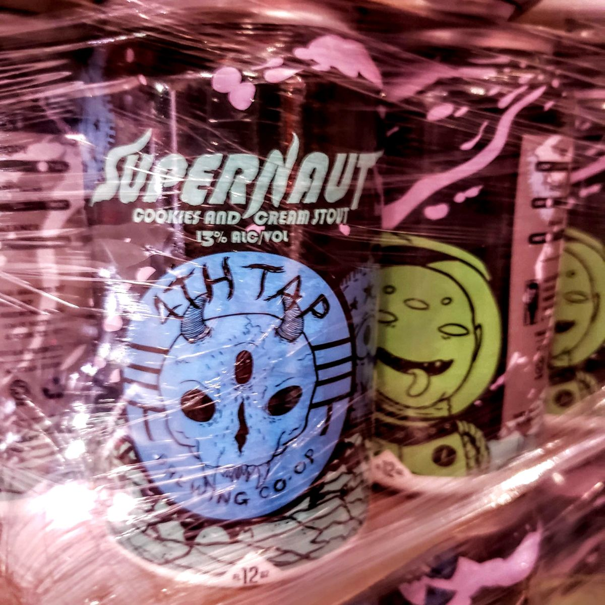 Supernaut: Cookies-N-Cream - Look, we've really nailed how to rapidly develop and release small batches in cans so we're leaning into it hard. As I write this (Thursday) we are canning two new releases, going out tomorrow (Friday, the day after Thursday). First down the line is our first variation on Supernaut, the Cookies-N-Cream Supernaut. How? Vanilla and buckets of broken, delicious cookies built on the base of our chocolate imperial stout - Supernaut. Weighs in at a solid 13%. Maybe it's the wrong time of year, but we want to drink what we want to drink when we want to drink it. Seasonality be damned.