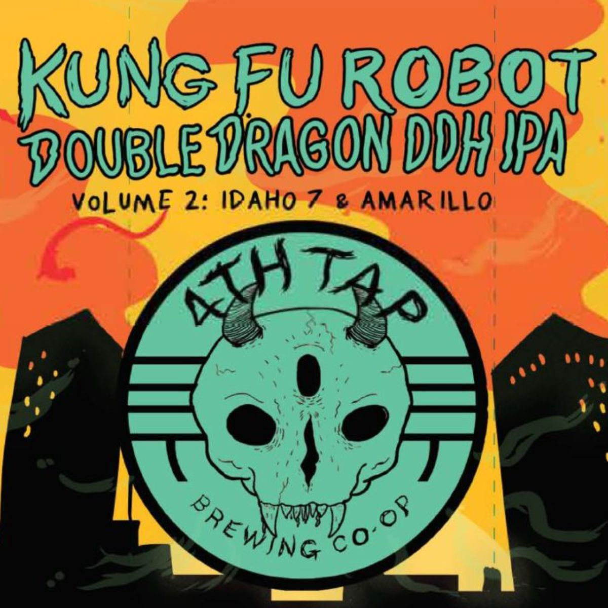 KFR DDDDHV2:Idaho7 - Our next Kung Fu Robot Double Dragon Double Dry-Hopped release will be a hazy monster heavily hopped with Idaho 7 and Amarillo. We have always wanted to work with the Idaho 7 hop strain (Amarillo hops are badass as well, don't worry) and we think this is going to be exceptionally delicious. Look for this one near the end of the month.