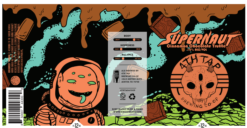 Supernaut - Cinnamon Chocolate Truffle - Our second variation on our Supernaut 12% Imperial Stout arrives next week. Beer Mike (in charge of cellar/packaging) can't stop raving about it. The can art, compliments of Rory Blank, is sick as usual. These are a limited run so, while some will make it to market, we'll keep a decent stock here at the brewery for you to take home. Available 9/6.