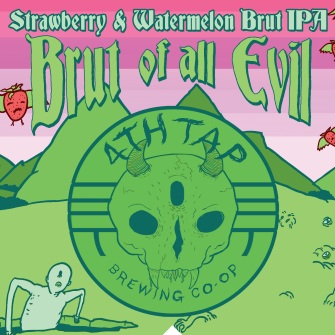 Brut of All Evil - Watermelon and Strawberry - Available 9/6. Brut OJ hit so we're going to keep rolling with this fruited Brut IPA thing. We've received a lot of great feedback about our Brut IPA program, which has been really nice - especially in a market that got flooded with a bunch of sub-par Bruts over the last year. Hard work pays off.