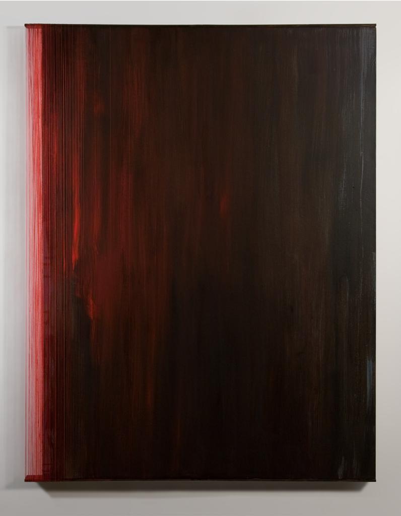 EDGED   Acrylic, canvas, thread  40 x 31 Inches