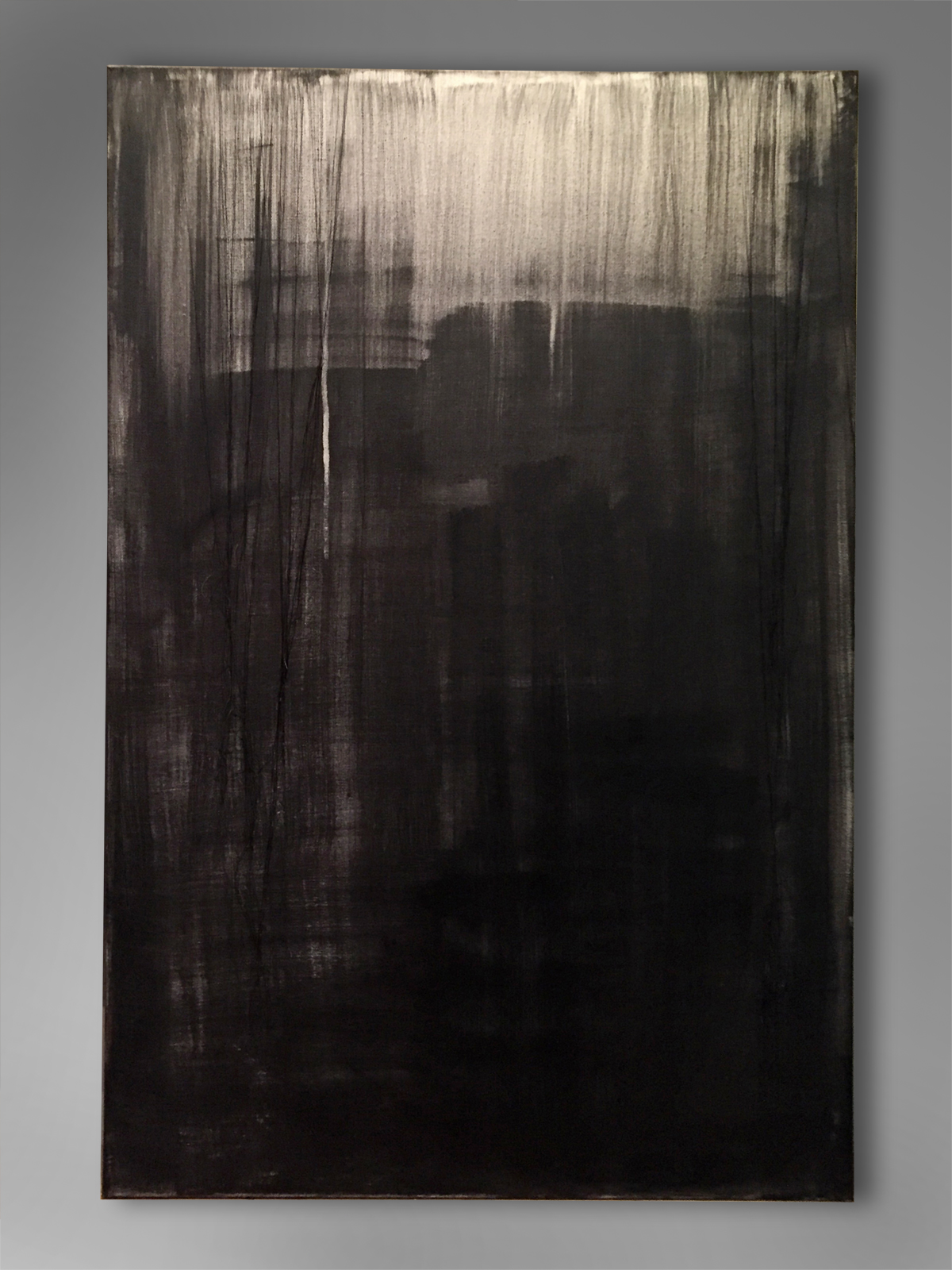 MOONLIGHT   Acrylic, canvas, thread  36 x 24 Inches
