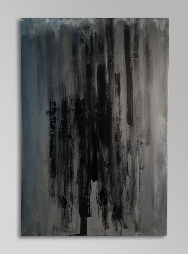 BLACK PSALM   Acrylic, canvas  40 x 27 Inches