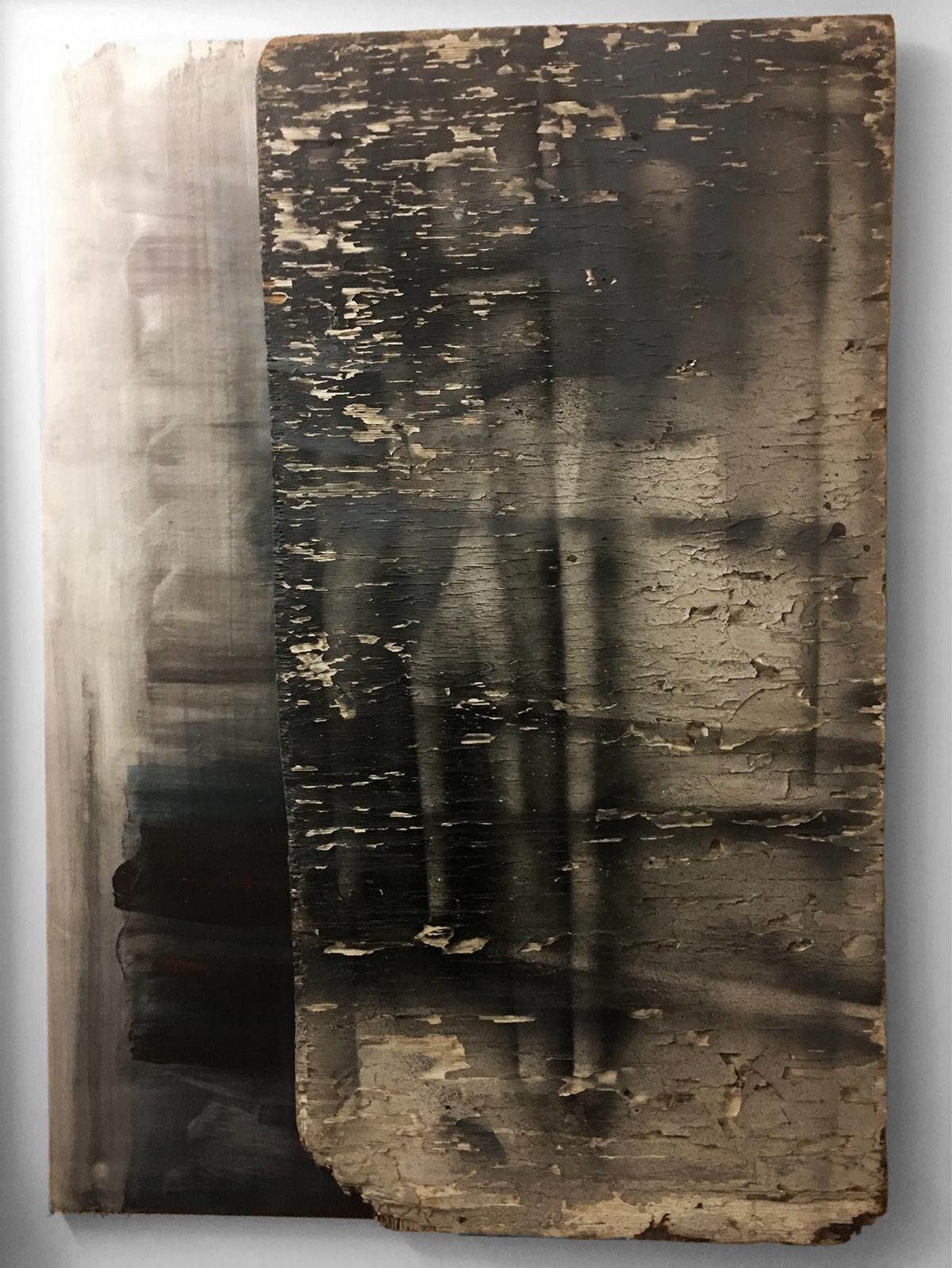 STORM WARNING   Found wood, acrylic wash, canvas  48 x 34 Inches