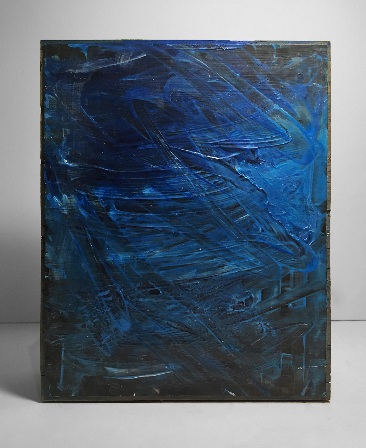 TANGLED BLUE   Acrylic, wood  10 x 8 Inches