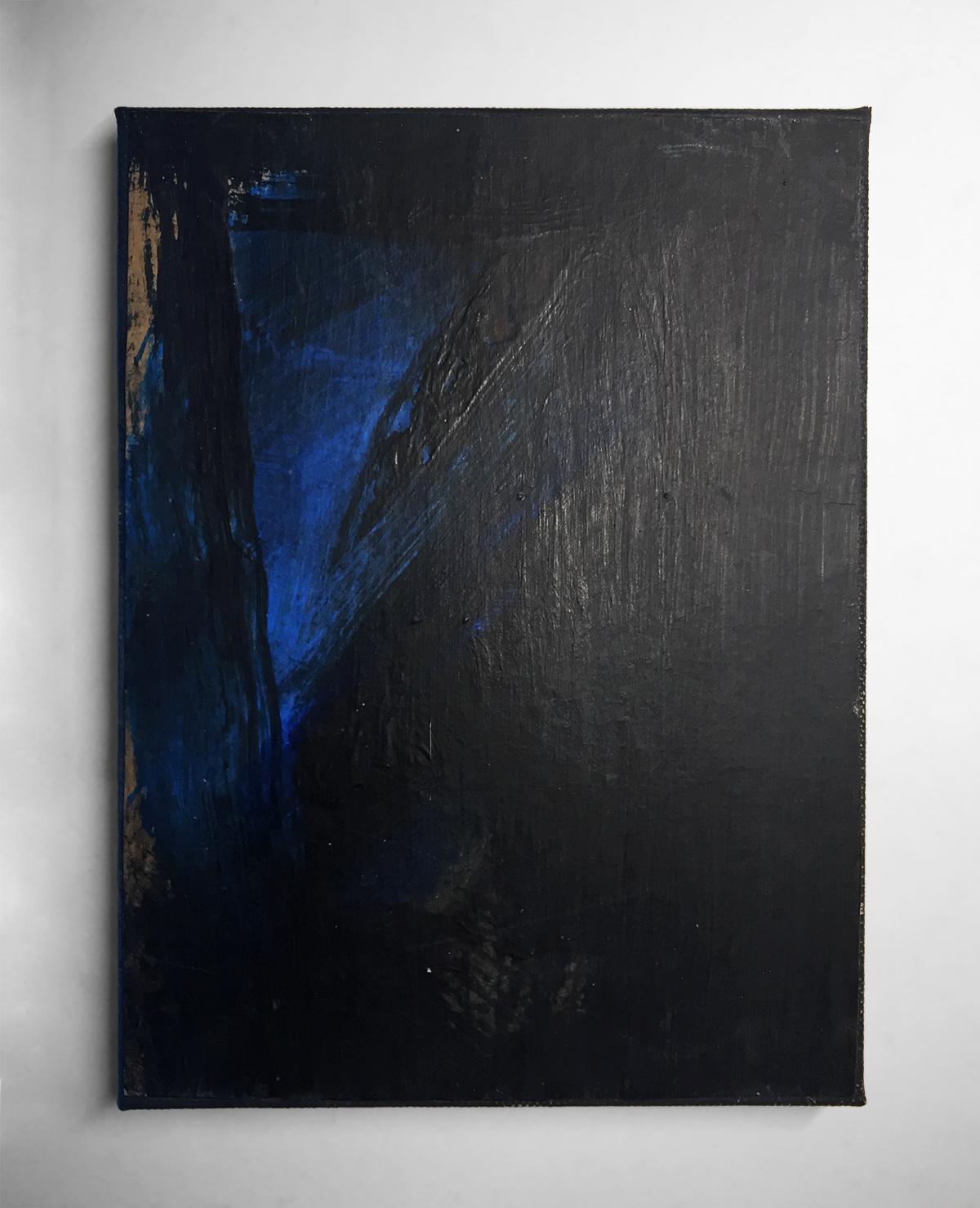 HAIKU   Acrylic, paper, canvas  8 x 6 Inches